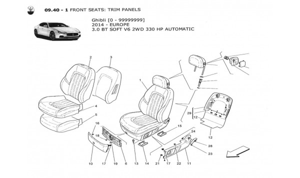 FRONT SEATS: TRIM PANELS