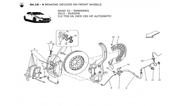 BRAKING DEVICES ON FRONT WHEELS