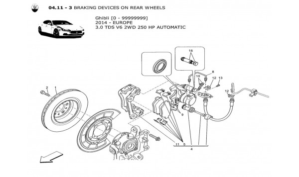 BRAKING DEVICES ON REAR WHEELS