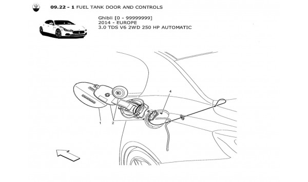 FUEL TANK DOOR AND CONTROLS