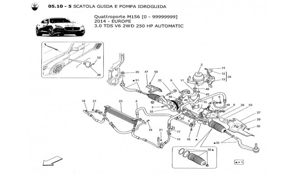 STEERING RACK AND HYDRAULIC STEERING PUMP