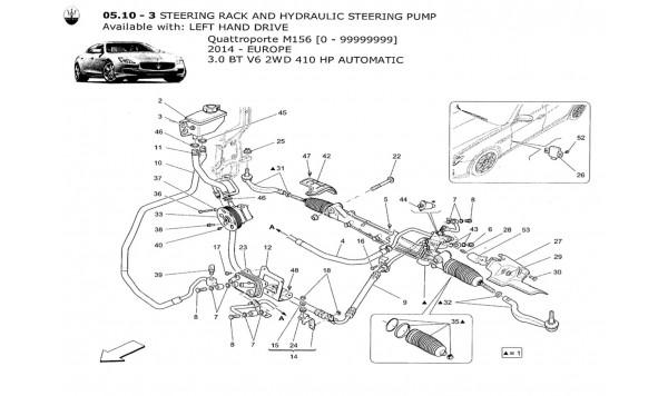 STEERING RACK AND HYDRAULIC STEERING PUMP