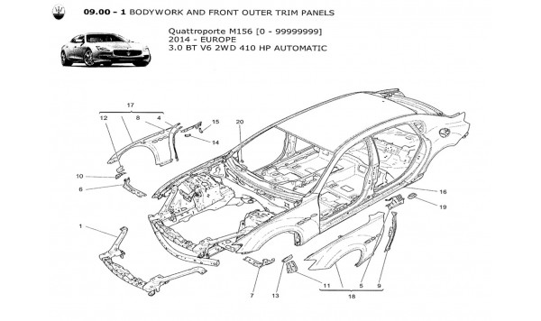 BODYWORK AND FRONT OUTER TRIM PANELS
