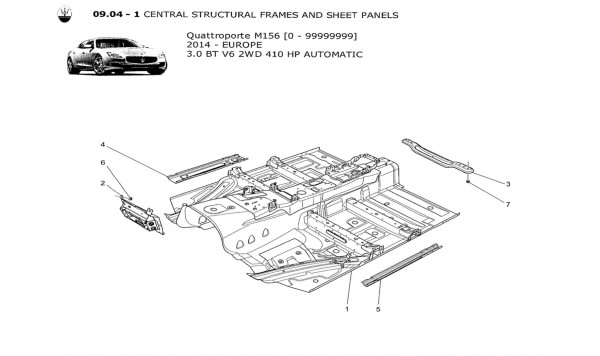 CENTRAL STRUCTURAL FRAMES AND SHEET PANELS