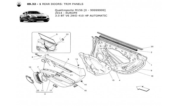 REAR DOORS: TRIM PANELS