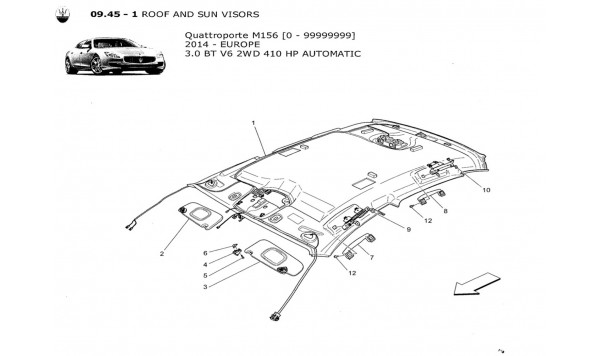 ROOF AND SUN VISORS