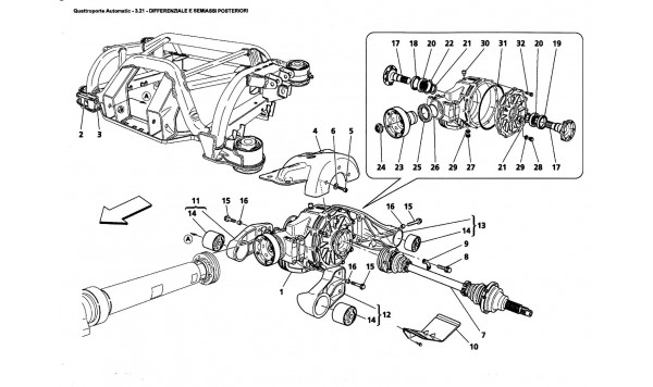 REAR DIFFERENTIAL AND AXLE SHAFTS