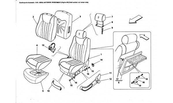 FRONT SEATS: LININGS (Page 4/4) (See validity on note field)