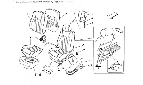 FRONT SEATS: LININGS (Page 3/4) (See validity on note field)