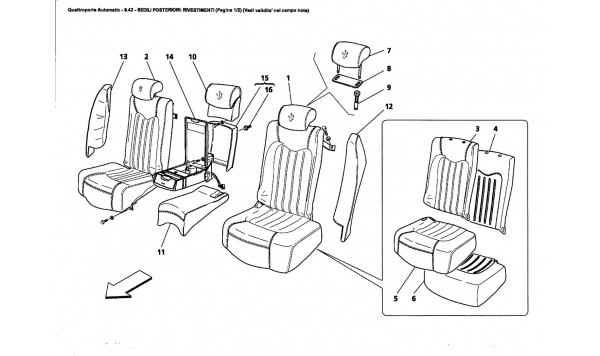 REAR SEATS: LININGS (Page 1/2) (See validity on note field)