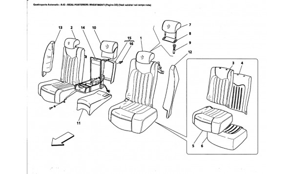 REAR SEATS: LININGS (Page 2/2) (See validity on note field)