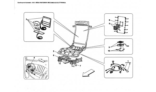 REAR SEATS: MECHANICAL AND ELECTRONIC UNITS
