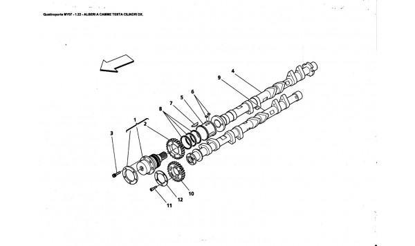 CAMSHAFTS FOR R.H. CYLINDER HEAD