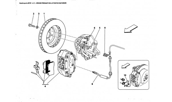 REAR WHEELS BRAKING PARTS