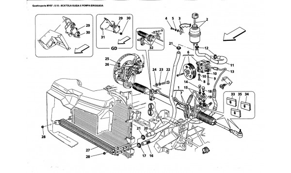 STEERING BOX AND SERVO-CONTROL PUMP