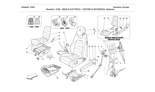 ELECTRICAL SEAT - SAFETY BELTS -Optional-