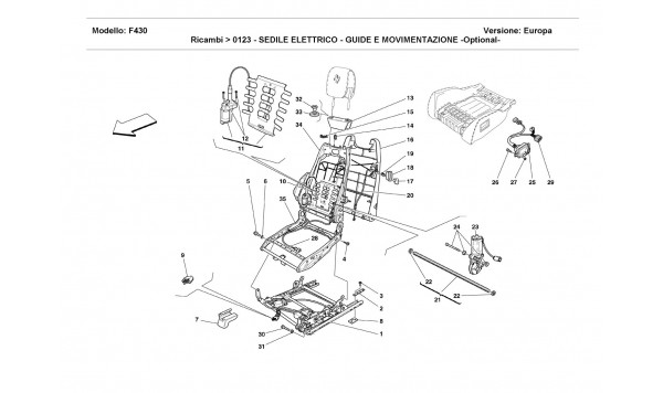 ELECTRICAL SEAT - GUIDE AND MOVEMENT -Optional-