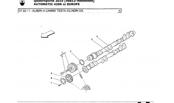 RH CYLINDER HEAD CAMSHAFTS