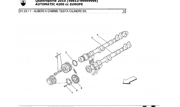 LH CYLINDER HEAD CAMSHAFTS