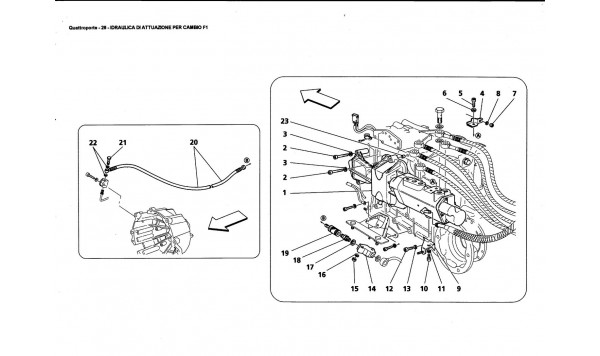 HYDRAULIC CONTROLS FOR F1 GEARBOX