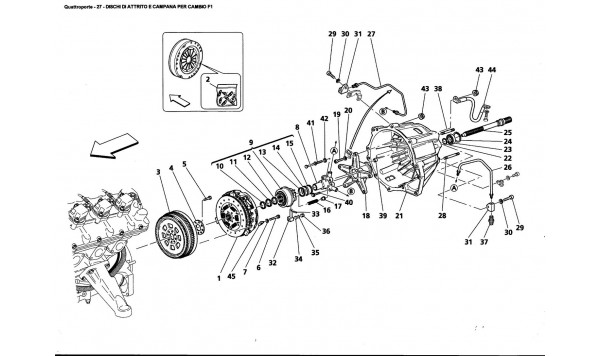 CLUTCH DISC AND HOUSING FOR F1 GEARBOX