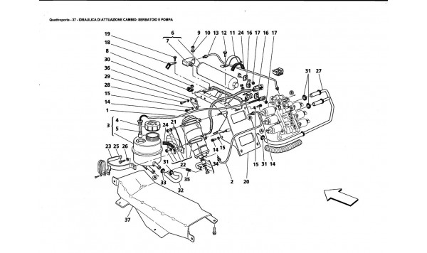GEARBOX CONTROL HYDRAULICS: TANK AND PUMP