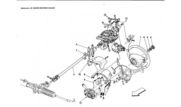 SHAFT AND STEERING WHEEL GROUP