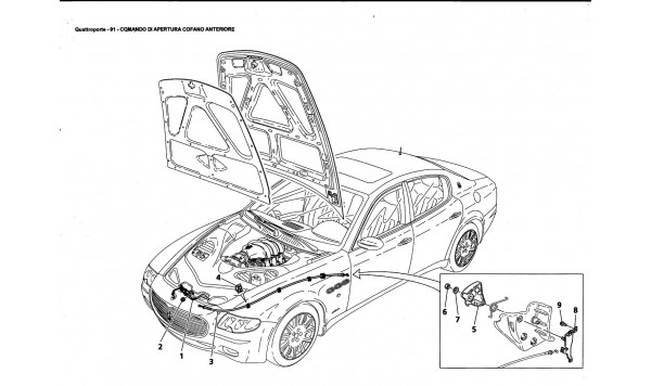 FRONT HOOD OPENING DEVICE