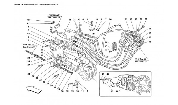 F1 CLUTCH HYDRAULIC CONTROLS -Valid for F1-
