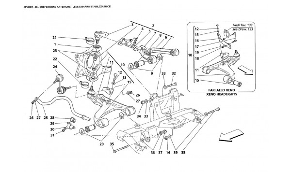 FRONT SUSPENSION - WISHBONES AND STABILIZER BAR