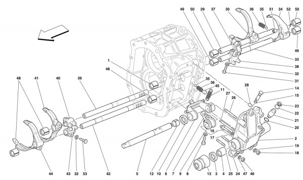 INSIDE GEARBOX CONTROLS -Not for 456 GTA-