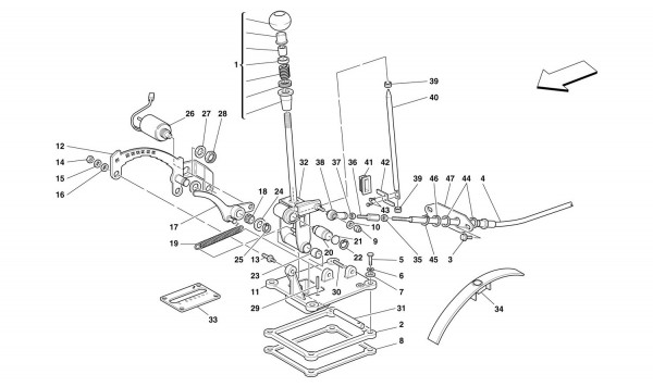 OUTSIDE GEARBOX CONTROLS -Valid for 456 GTA-
