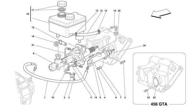 BRAKE AND CLUTCH HYDRAULIC SYSTEM -Not for GD-