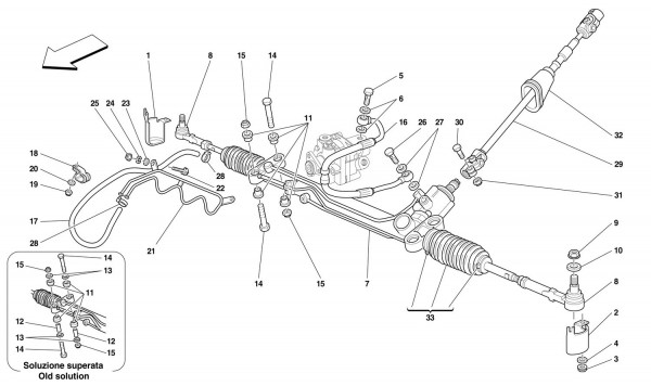 HYDRAULIC STEERING BOX AND SERPENTINE -Not for GD-