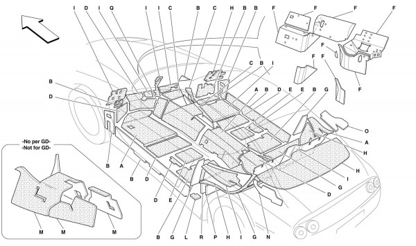 PASSENGERS COMPARTMENT AND ENGINE COMPARTMENT INSULATIONS