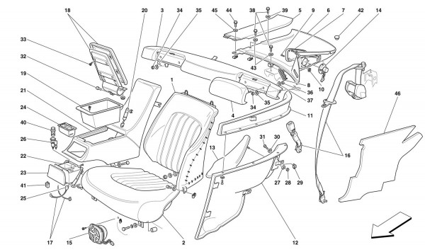 REAR SEATS AND SEAT BELTS