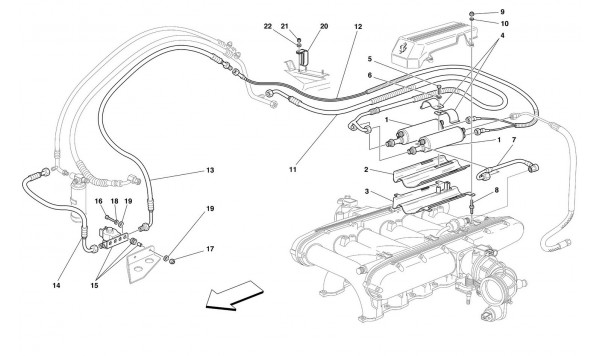 FUEL COOLING SYSTEM -Valid for USA M.Y. 2000, USA M.Y. 2001, CDN M.Y. 2000 and CDN M.Y. 2001-