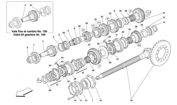 LAY SHAFT GEARS -Not for 456M GTA-