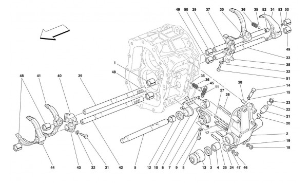 INSIDE GEARBOX CONTROLS -Not for 456M GTA-