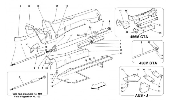 ENGINE CONNECTION TUBE - GEARBOX AND INSULATION