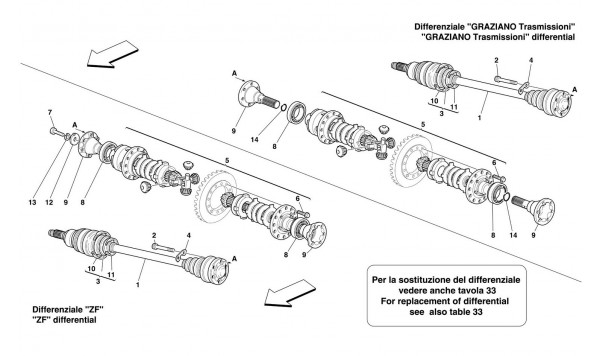DIFFERENTIAL AND AXLE SHAFT -Not for 456M GTA-